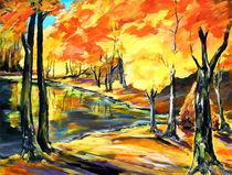 Herbstwald by Eberhard Schmidt-Dranske