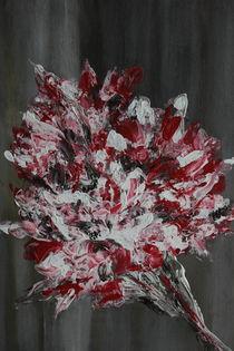 Ein rot-weißer Blumenstrauß von inspiring-art