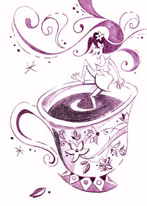 I Love Coffee Illustration - Arte Caffè by nacasona
