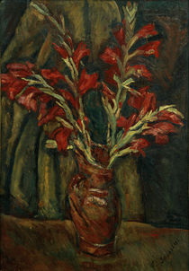 Ch. Soutine, Red Galdioli in a Vase / painting by AKG  Images