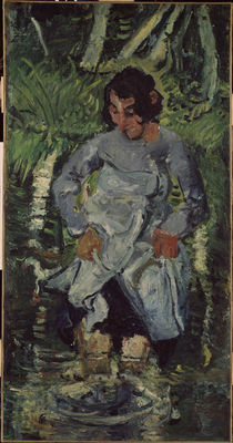 Ch. Soutine, Woman stepping into the water / painting by AKG  Images