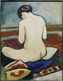 A.Macke / Nude Sitting on Cushions /1911 by AKG  Images