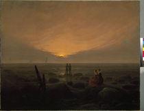 C.D.Friedrich, Mondaufgang am Meer von AKG  Images