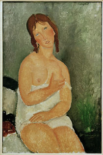 A.Modigliani / Seated Young Woman /1918 by AKG  Images