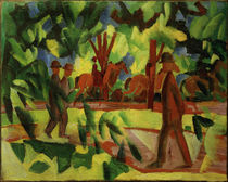 A.Macke / Horsemen and Walkers in the Avenue by AKG  Images
