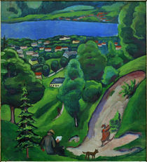 A.Macke / Landscape near Lake Tegern by AKG  Images