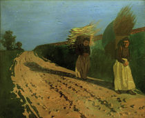 F.Vallotton, Holztragende Frauen by AKG  Images
