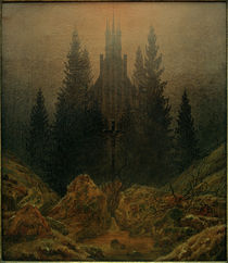 Friedrich / Cross in the mountains/c. 1812 by AKG  Images