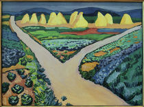 August Macke / Vegetable Fields by AKG  Images