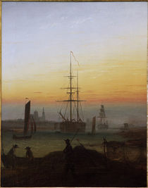 Friedrich / Harbour of Greifswald /c. 1815 by AKG  Images