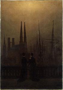 C.D.Friedrich, Nächtlicher Hafen von AKG  Images