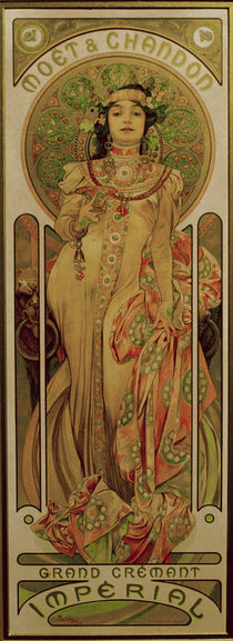 A.Mucha, Poster for Moet & Chandon by AKG  Images