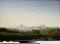 Friedrich / Bohemian landscape / 1808 by AKG  Images