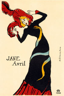H.Toulouse-Lautrec, Jane Avril 1899 von AKG  Images