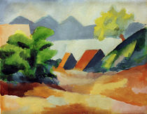 A.Macke / Am Thuner See I / Ptg./ 1913 by AKG  Images