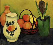 A.Macke / White Jug with Blue Fruit by AKG  Images