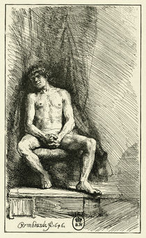 Rembrandt, Male Nude / Etching / 1646 by AKG  Images