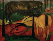 Franz Marc, The three horses by AKG  Images