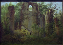 Friedrich / Abbey ruin Eldena /  c. 1824 by AKG  Images