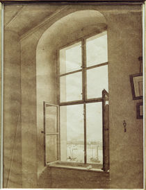 C.D.Friedrich / View from left studio window / 1805 by AKG  Images