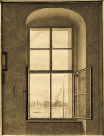 C.D.Friedrich / View from right studio window / 1805 by AKG  Images