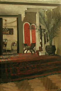 F.Vallotton, Interieur: Salon mit Blick. by AKG  Images