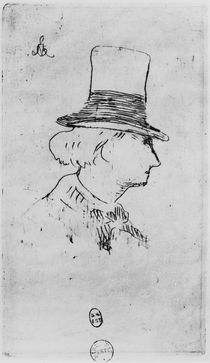 Baudelaire / Etching Manet by AKG  Images
