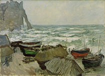 Monet / Fishing Boats on Etretat Beach by AKG  Images