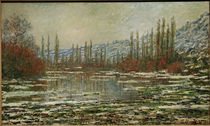 Claude Monet / The Thaw at Vetheuil. by AKG  Images
