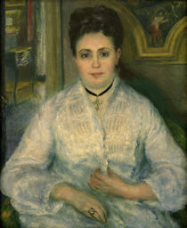 Renoir / Madame Choquet in White / 1875 by AKG  Images
