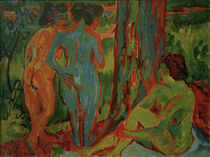 E.L.Kirchner / Three Nudes in the Forest by AKG  Images