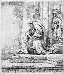 Rembrandt, Heimkehr verlor. Sohn / Rad. by AKG  Images