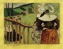 """P.Gauguin, """"Bretonnes à la Barrière"""" / painting by AKG  Images"""