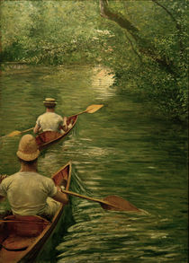 G.Caillebotte, Canoes on the Yerres by AKG  Images