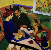 E.L.Kirchner, Doris und Heckel am Tisch von AKG  Images