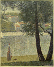 G.Seurat, Die Seine bei Courbevoie von AKG  Images