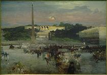 Rom, Piazza del Popolo / Gemälde von Oswald Achenbach von AKG  Images