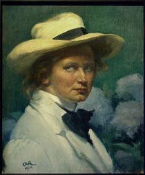 Ottilie W. Roederstein / Selbstbildnis mit weißem Hut     1926 von AKG  Images