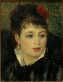 Renoir / Woman with rose / 1875/76 by AKG  Images