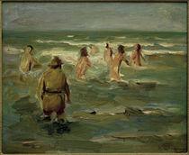 M.Liebermann, Badende Knaben mit Strandwächter von AKG  Images