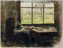 M.Liebermann, Holländische Frau am Fenster by AKG  Images