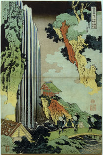 Hokusai, Ono-Wasserfall / Mehrfarbendruck um 1833 by AKG  Images