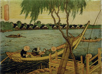 Hokusai, Line-fishing in the Miyato River by AKG  Images