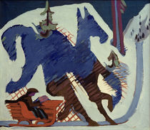 Ernst Ludwig Kirchner / Sleigh Ride. by AKG  Images