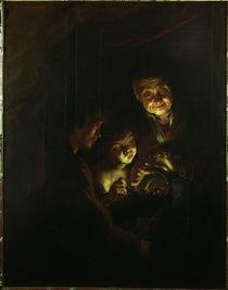 P.P.Rubens / Die Alte mit dem Kohlebecken von AKG  Images