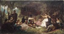 C.Spitzweg, Das Picknick /  um 1864 by AKG  Images