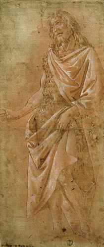 S.Botticelli, Johannes d. Täufer m. Spruchband by AKG  Images