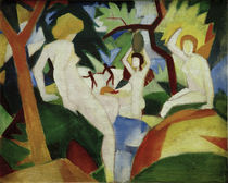 August Macke, Badende Frauen by AKG  Images