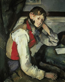 Boy with Red Waistcoat / P. Cézanne / Painting c.1890 by AKG  Images