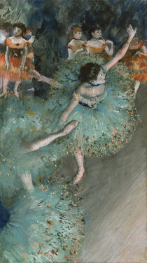 Degas, Tänzerinnen in Grün von AKG  Images